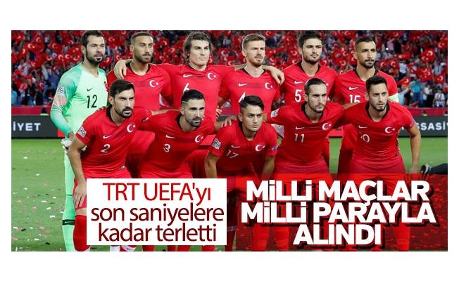 TRT UEFA ile Türk lirası üzerinden anlaşma sağladı