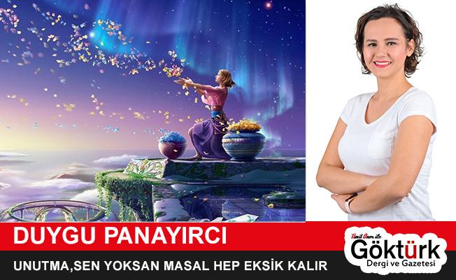 UNUTMA,SEN YOKSAN MASAL HEP EKSİK KALIR
