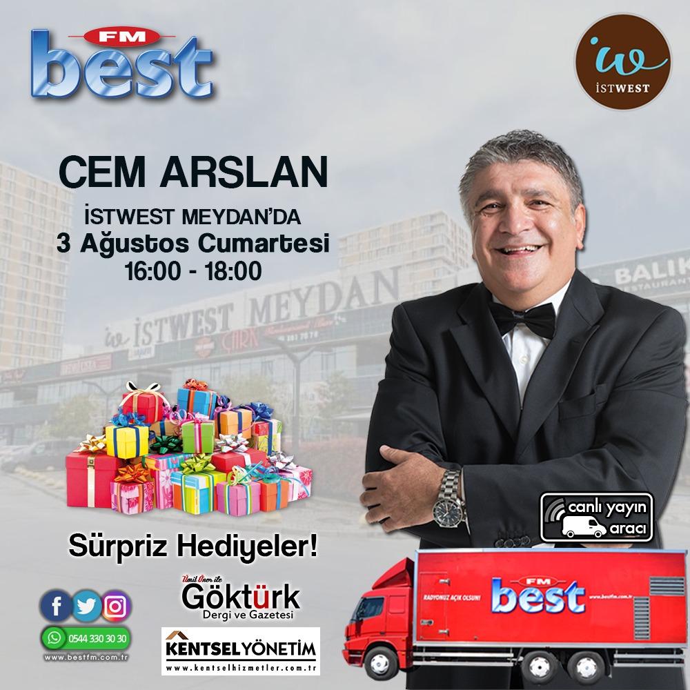 Cem Arslan 3 Ağustos'ta Istwest Meydan'Da