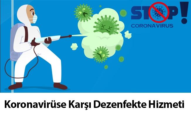 Koronavirüse Karşı Dezenfekte Hizmeti