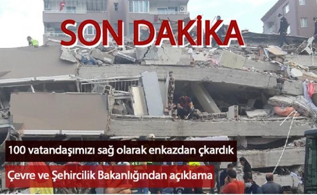İzmir depremi ile ilgili son dakika: Bakan Kurum enkaz altından çıkarılanların sayısını açıkladı!