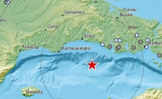 Son dakika: Marmara Denizi'ndeki depremin yeri ve şiddeti belli oldu