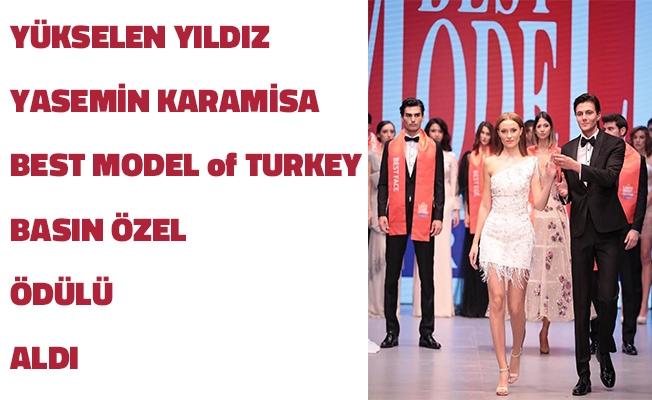 Yükselen Yıldız Yasemin Karamisa Best Model of Basın Özel Ödülü Aldı