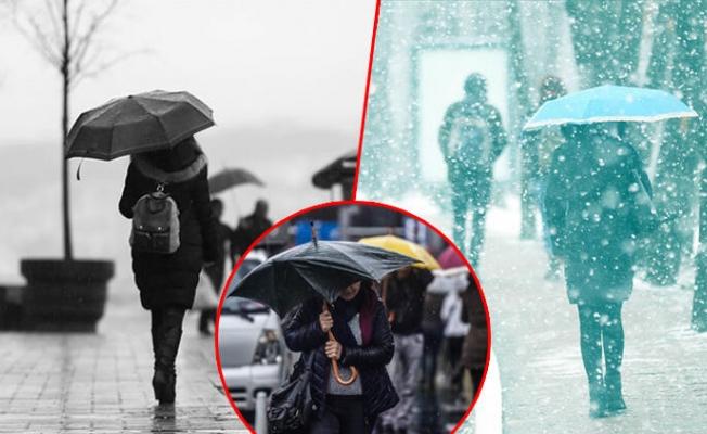 Meteoroloji'den çok sayıda kente sarı ve turuncu kodlu uyarı! Tüm yurtta yağış var