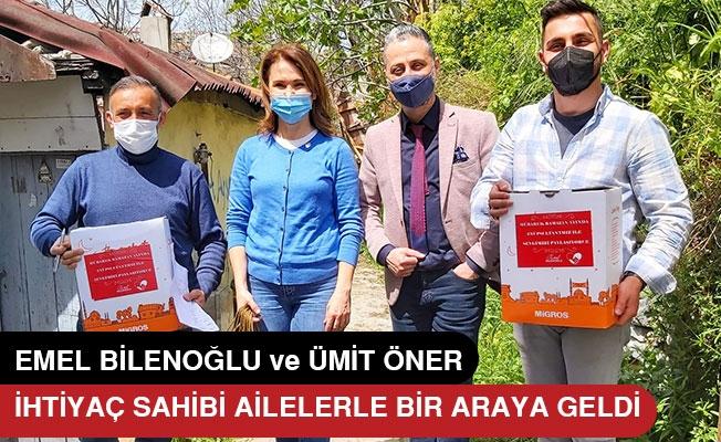 Emel Bilenoğlu ve Ümit Öner Ramazan kolisi dağıttı