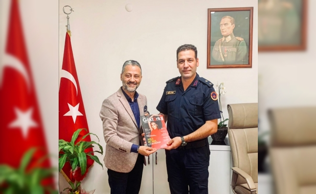 Ümit Öner İlçe Jandarma Komutanı Üsteğmen Zeki Gülter'i Ziyaret Etti