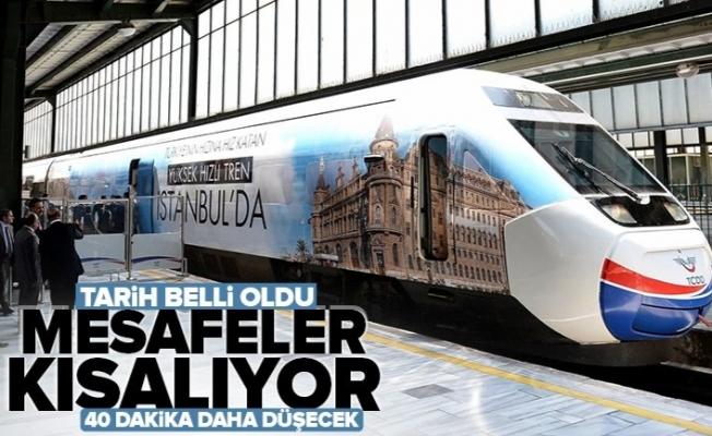 Ulaştırma ve Alt Yapı Bakanı Adil Karaismailoğlu'ndan hızlı tren açıklaması: Ankara-İstanbul arası 40 dakika daha kısalacak.