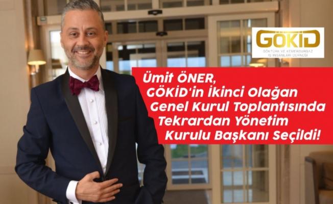 Ümit Öner, GÖKİD'in İkinci Olağan Genel Kurul Toplantısında Tekrardan Yönetim Kurulu Başkanı Seçildi!