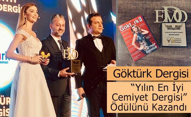 Göktürk Dergisi 'Yılın En İyi Cemiyet Dergisi' Ödülünün Sahibi Oldu