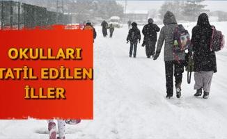Yüz yüze eğitime kar yağışı engeli! Hangi illerde okullar tatil oldu?