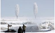 Erzurum'da Muhteşem Kırağı Manzarası
