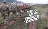 Afrin harekatında (Zeytin Dalı) son durum: 4 köy teröristlerden alındı
