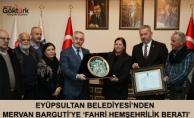 Eyüpsultan Belediyesi'nden Mervan Barguti'ye 'Fahri Hemşehrilik Beratı'