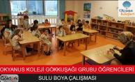 Okyanus Koleji GokkuşağıGrubu Öğrencileri Sulu Boya Çalışması