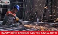 Sanayi Ciro Endeksi %25'ten Fazla Artış Gösterdi