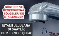 İstanbul'a 30 Saatlik Su Kesintisi Şoku