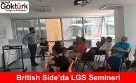 British Side'da LGS Liselere Giriş Sınav Semineri