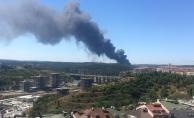 Son dakika... İstanbul'da korkutan fabrika yangını!