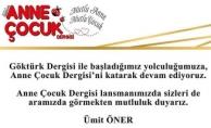 Anne Çocuk Dergisi Lansmanı Richess İstanbul Gerçekleşecek