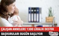 Çalışan Annelere 1300 Liralık Aylık Destek Başvuruları Başlıyor