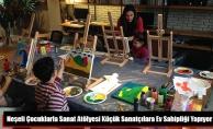 Neşeli Çocuklarla Sanat Atölyesi Küçük Sanatçılara Ev Sahipliği Yapıyor