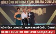 """Göktürk Dergisi """"2. Yılın Enleri Ödül Töreni"""" Kemer Country Hotel'de yapıldı"""