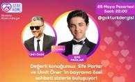 25Mayıs Pazartesisaat 22.00'de Ümit Öner'in  Canlı Yayın Konuğu sevilen oyuncu Efe Parlar.