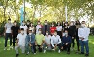 Başkan Deniz Köken, BESYO'yu kazanan öğrencilerle buluştu