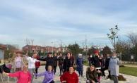 Eyüpsultan Göktürk'te açık alan spor etkinlikleri devam ediyor.