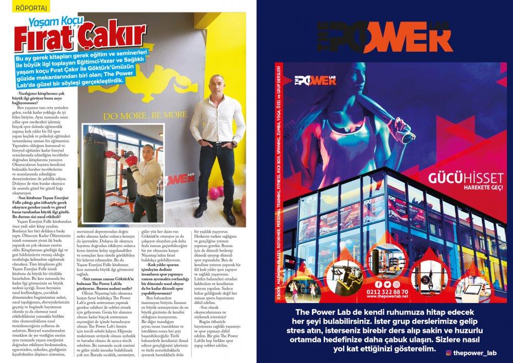 Göktürk Dergisi Nisan Sayısı Fırat Çakır ve The Power Lab