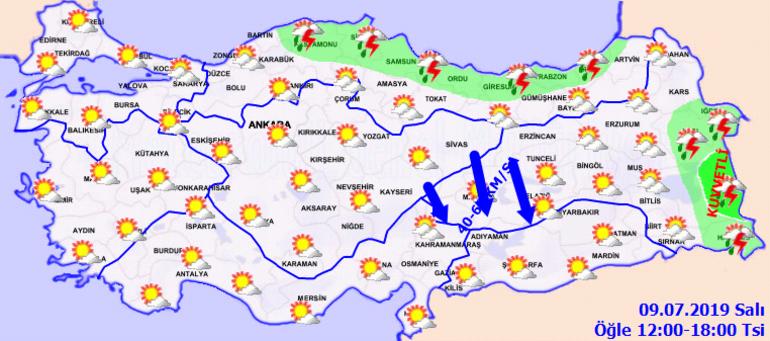 Meteoroloji 9 Temmuz Hava Durumu Raporu