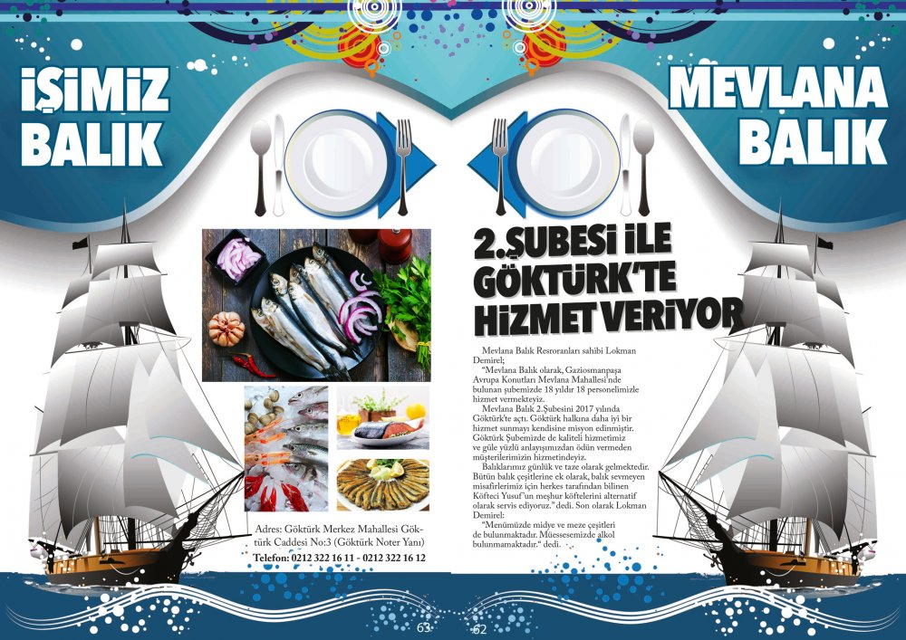 Göktürk Dergisi Şubat Sayısı Mevlana Balık