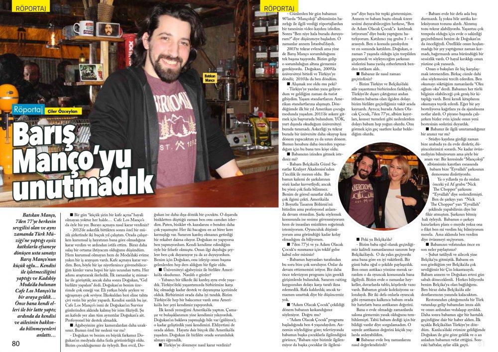 Göktürk Dergisi Mart Sayısı Çiler Özceylan Batıkan Manço Röportajı