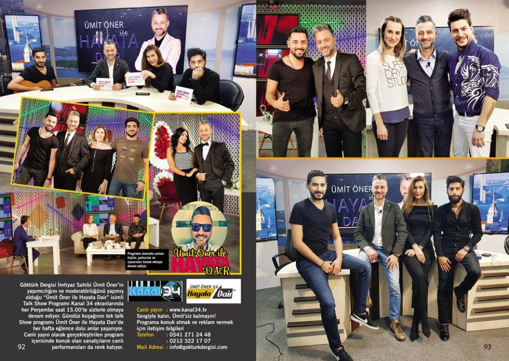 Göktürk Dergisi Yılbaşı Özel Sayısı Ümit Öner ile Hayata Dair Talk Show Programı